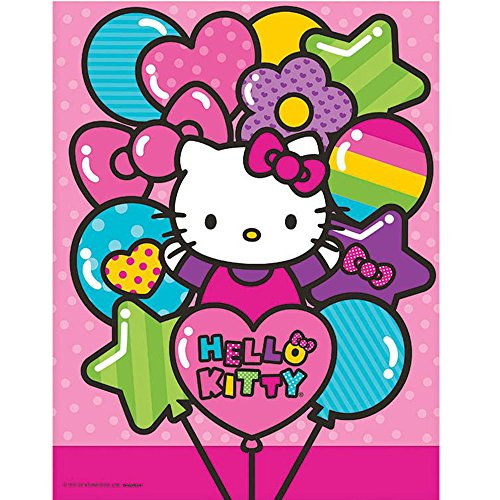 Adorable Hello Kitty Rainbow Plastic Table Cover Birthday Party Tableware Decoration (1 Piece), Pink, 54