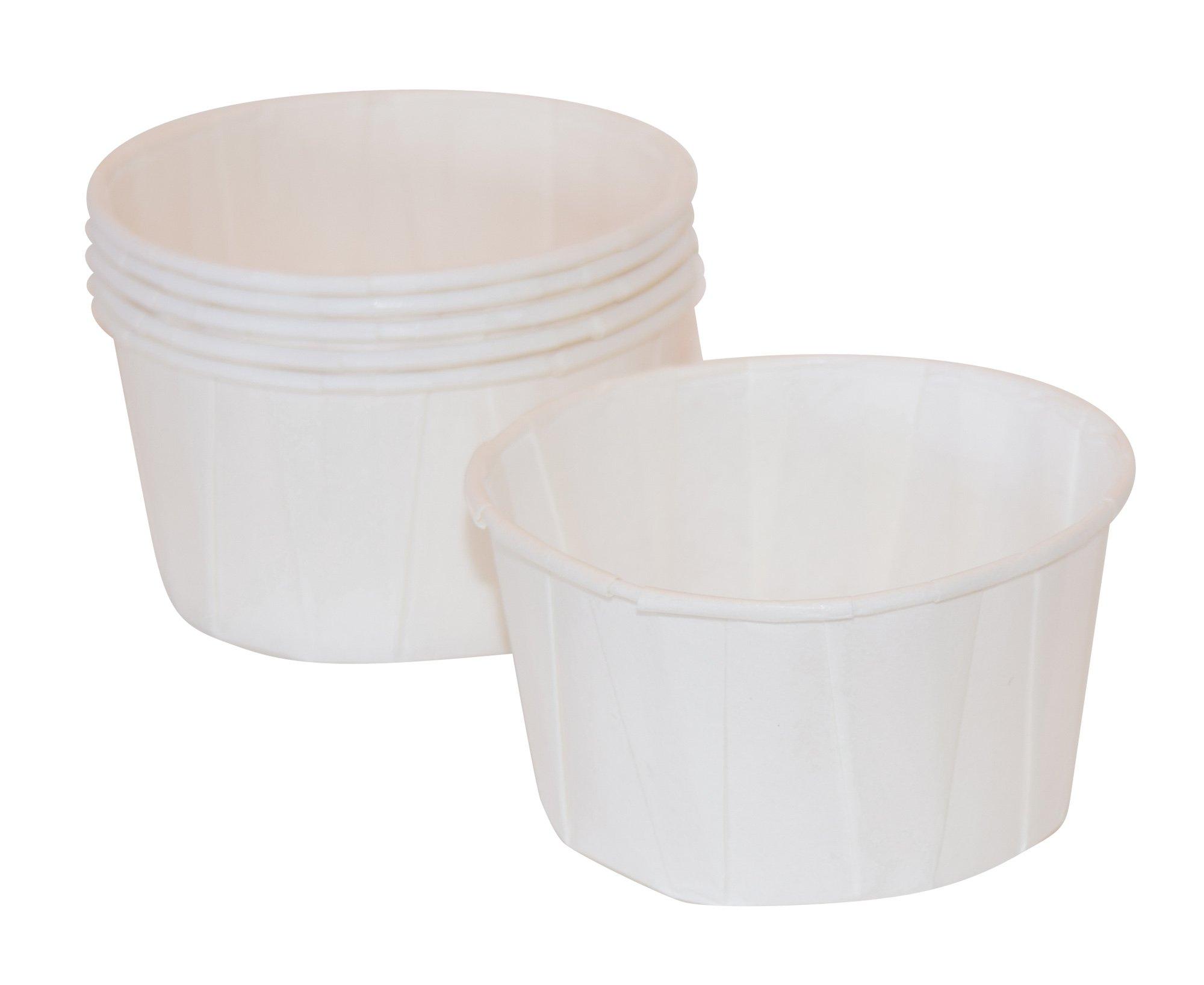 4 oz, Paper Souffle Portion Cups, Value set of 500