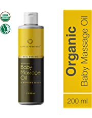 Life & Pursuits USDA Organic Baby Massage Oil (200 ml/6.76 fl oz), Mineral Oil Free | Ayurvedic Natural Baby Oil with Sesame Oil, Coconut Oil, Vitamin E