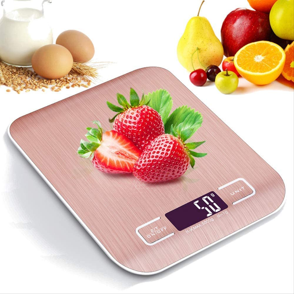 Usb Rechargeable Kitchen Scale, Digital Food Scale, 5000g / 1g Electronic Stainless Steel Weight Scale Lcd Measurement Tool
