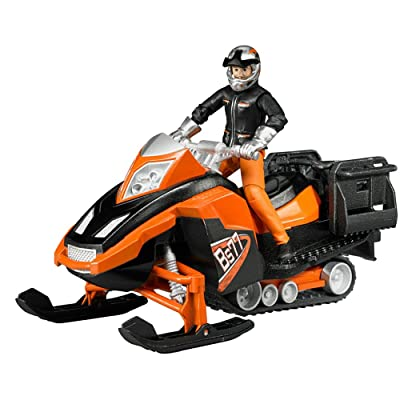Bruder Snowmobile with Driver & Accessories: Toys & Games
