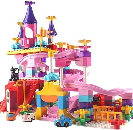 Juguete deslizamiento de rótula Gran jardín de infancia de partículas Building Blocks Accesorios Castillo Diapositivas estudiantes de educación de la primera infancia juguetes rosa La estación de jugu: Amazon.es: Hogar