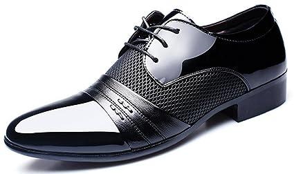 8cdf8d8c54 MLFMHR hombres de charol smoking vestido de negocios zapatos con cordones  Oxfords