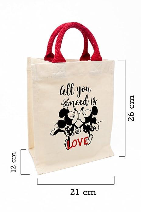 Bolsa para regalos bolsa de algodn natural con asas color rojo bolsa para regalos bolsa de algodn natural con asas color rojo 21x26x12cm mickey y altavistaventures Choice Image