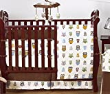 Night Owl Forest Nature Baby Boy Bedding 9 pc Crib Set by Sweet Jojo Designs
