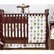 Night Owl Forest Nature Baby Boy Bedding 9 pc Crib Set by Sweet Jojo Designs