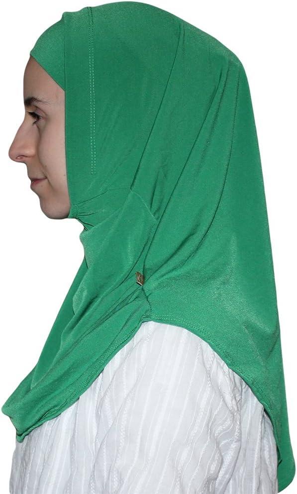 Turkish Ready Instant Hijab  Firdevs Practical Scarf /& Bonnet Teal