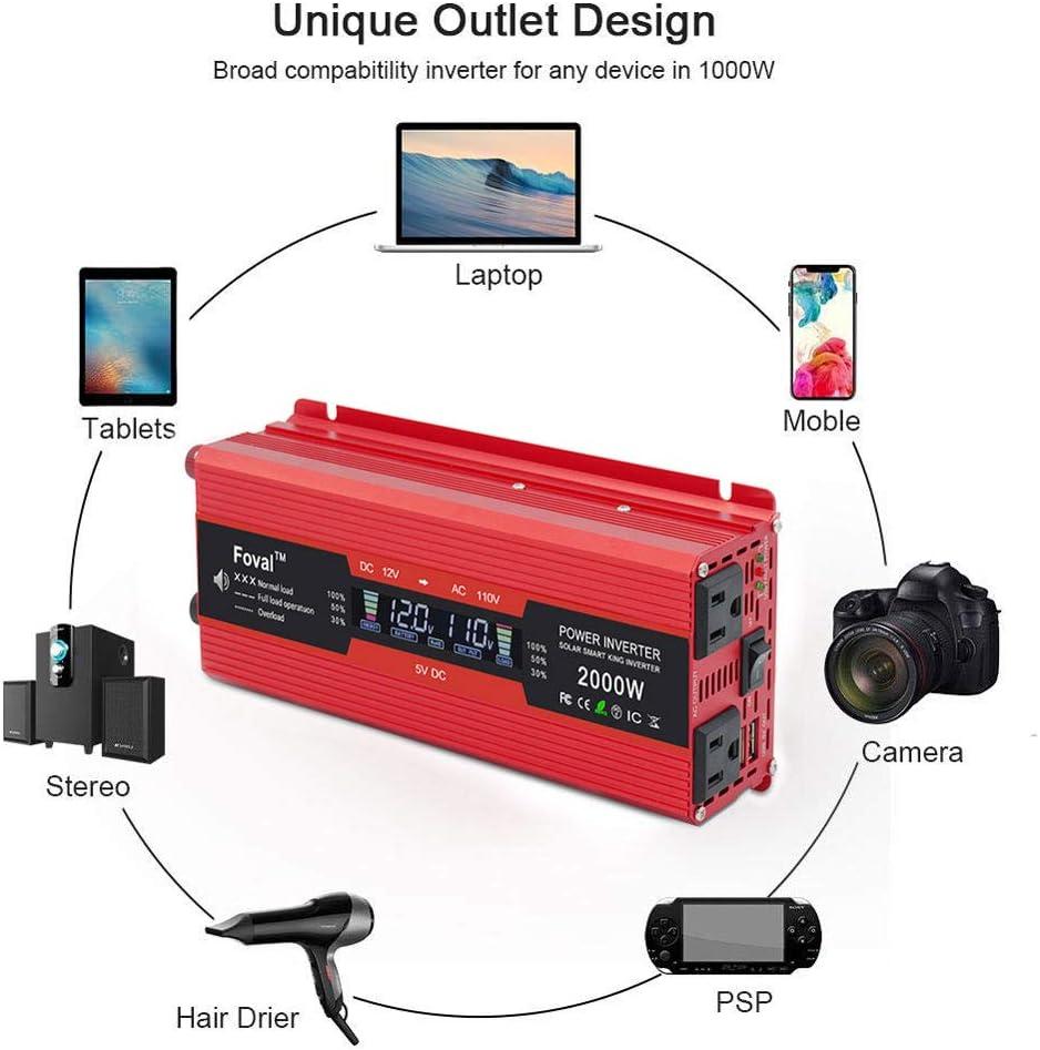 Amazon.com: IpowerBingo 1000W/2000W inversor de corriente ...