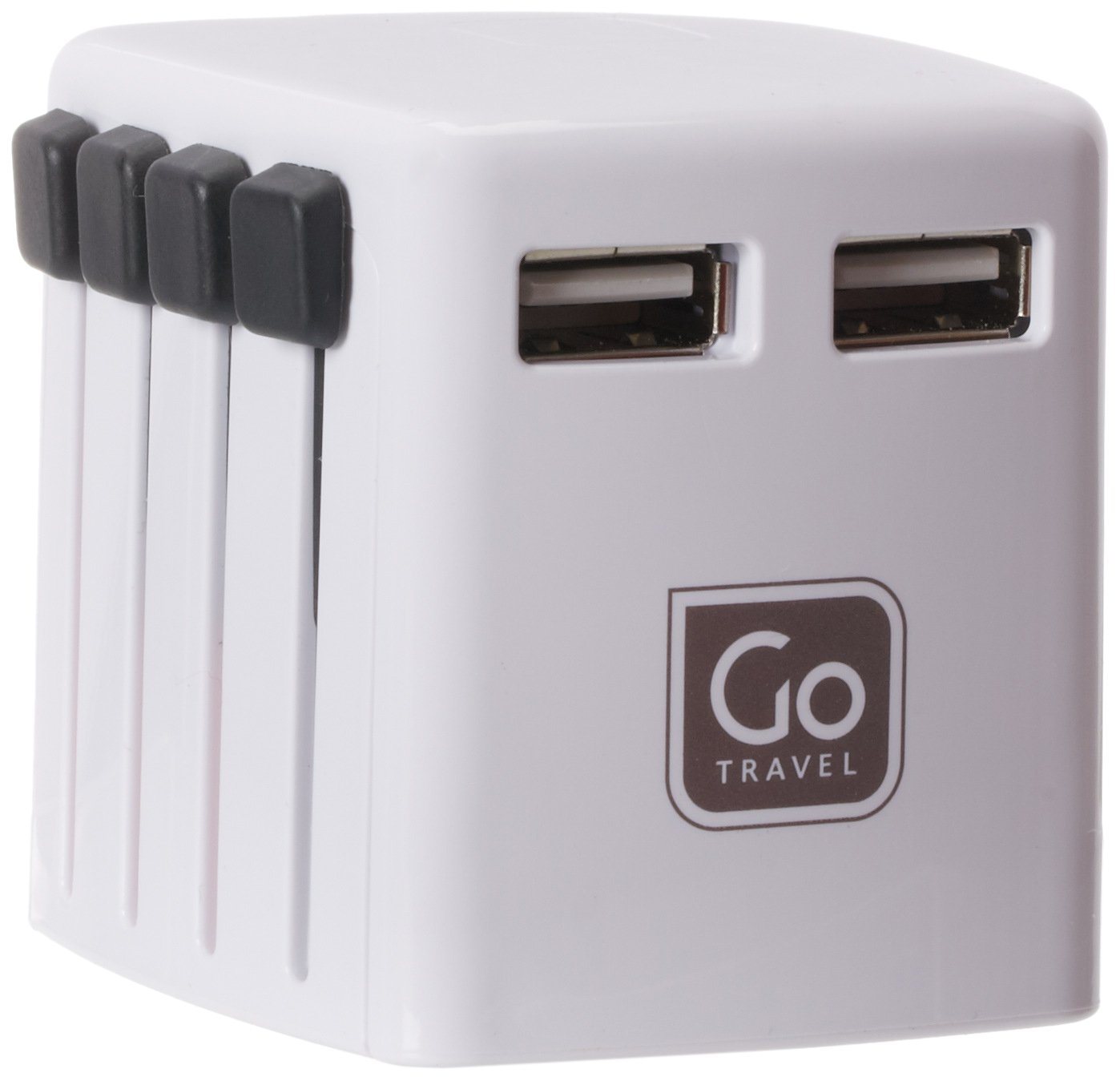 Design Go Go Travel Worldwide Twin USB Charger, White by DESIGN GO