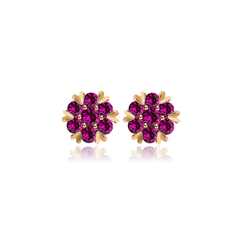 Classic simple AAA cubic zirconia stud Earrings heart-shaped round earings