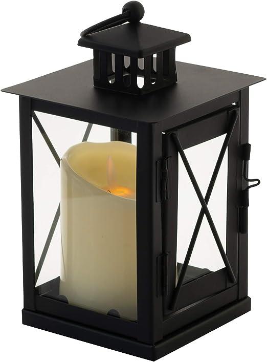 SOGREAT - Farol de Cristal Templado + Vela LED para jardín, con ...