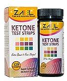 ZAEL Ketone Test Strips, 120 Strips + Free Low Cab One Week Meal Plan (8x11)
