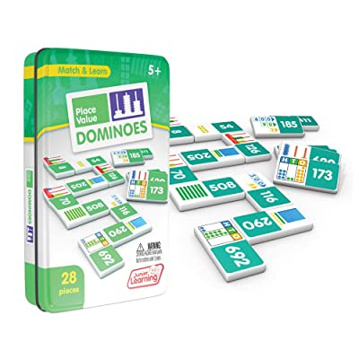 Junior Learning Place Value Dominoes Educational Action Games: Toys & Games