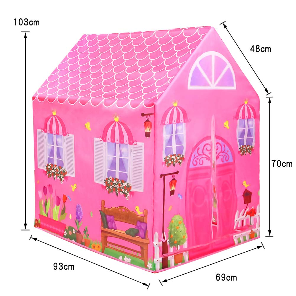 L.Y Casitas para Niños Tienda de Campaña Castillo Princesas Playa Carpa Jardin Plegable Regalos Cumpleaños Niños Niñas (Rosa): Amazon.es: Jardín
