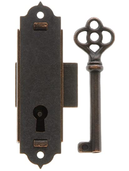 Narrow Vertical Cabinet Lock with Antique Bronze Finish. - Narrow Vertical Cabinet Lock With Antique Bronze Finish. - - Amazon.com