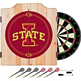 Iowa State University Deluxe Solid Wood Cabinet Complete Dart Set - Officially Licensed!