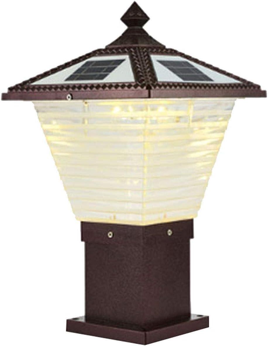 PSOU ウォールランプ- 柱ランプソーラーライトウォールランプポストランプ屋外LEDライト防水ガーデンランプガーデンヴィラのドア柱ランプ屋外ランプ (Size : XX-Large)