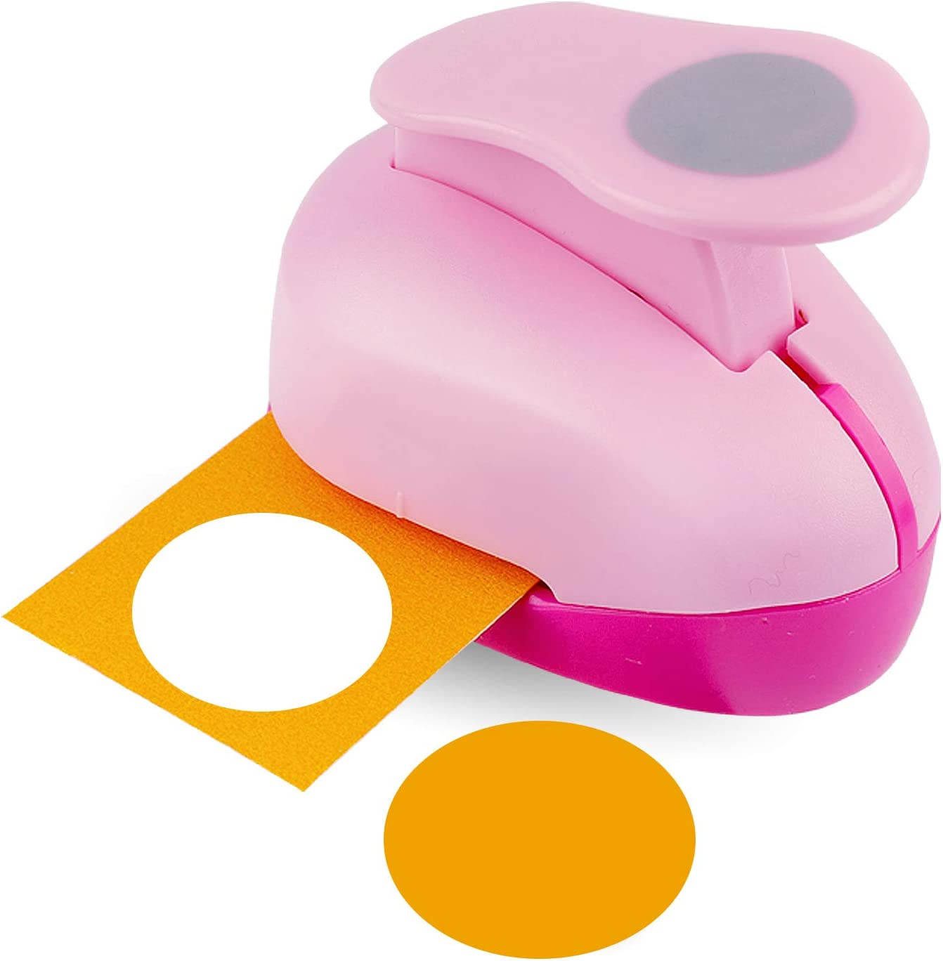 Perforadora circular de 5.1cm para bricolaje, fotos (rosa)