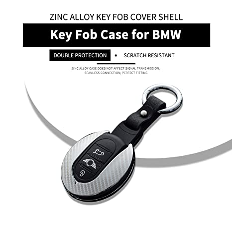 98cf519af94 Amazon.com: Zinc Alloy Key Fob Case for BMW MINI, Remote Smart key ...