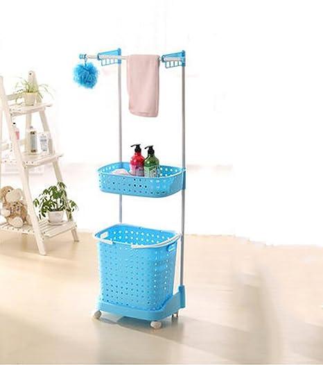 XWG Estantes de Almacenamiento de plástico para baño, estantes de Toalla, Estante para Ropa