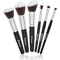 Brochas Base Polvos Ojos de Maquillaje Profesional Kabuki - Set Pinceles Maquillaje Sintético - Fibras Veganas de Larga…