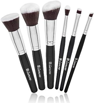 Powder Blush Foundation Kabuki Eyeshadow Brush Set - 6 Piece Essential Makeup Brushes Kit - Top