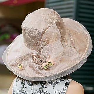 HUAIX Home Cappello Estivo/Cappello da Spiaggia/Cappello da Spiaggia/Cappello Fresco (Color : Pink/A)