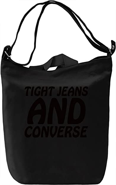3b5db342c17 Tight Jeans And Converse Slogan Canvas Day Bag| 100% Premium Cotton Canvas|  DTG