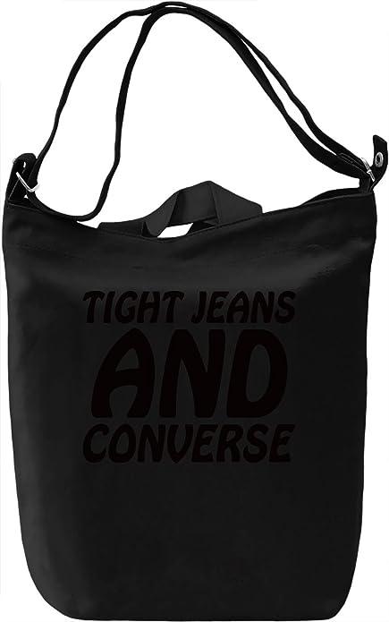 Day Printing mano 100 Cotton Amazon Canvas Tight Bag Jeans y Canvas complementos de Bolsa And Converse Día Premium Zapatos es Slogan DTG xzaPwzqOC