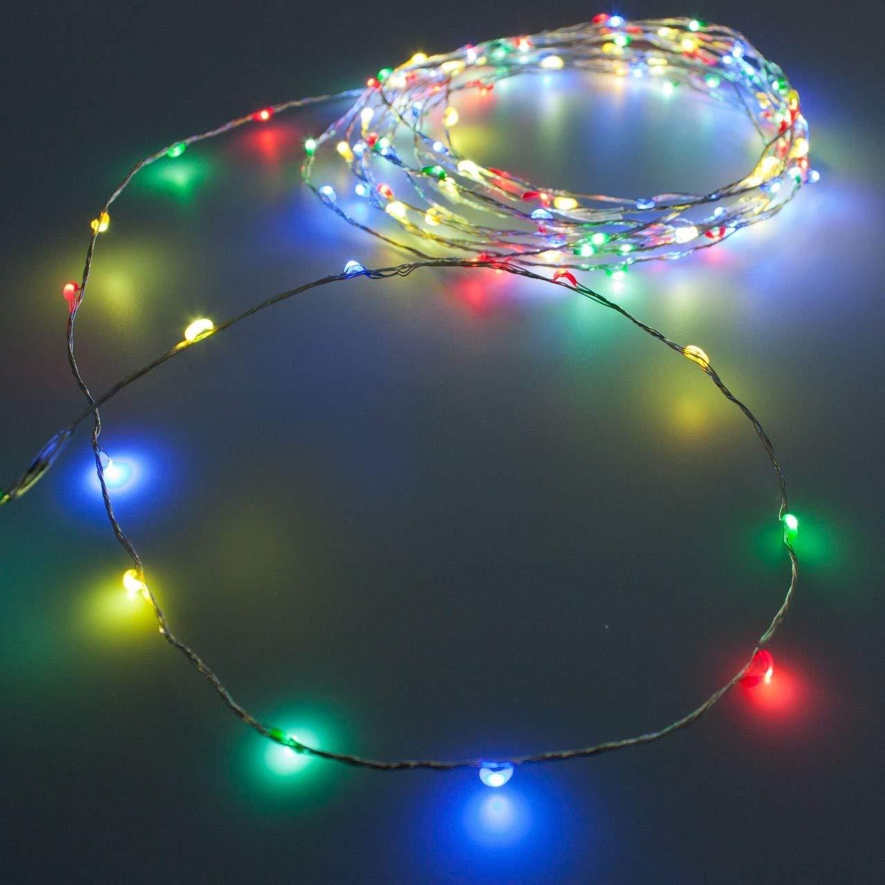 80plexiglás de apoyo Luces Multicolor con pilas con Juegos de luz Luces de navidad decoración pesebres PERAGASHOP