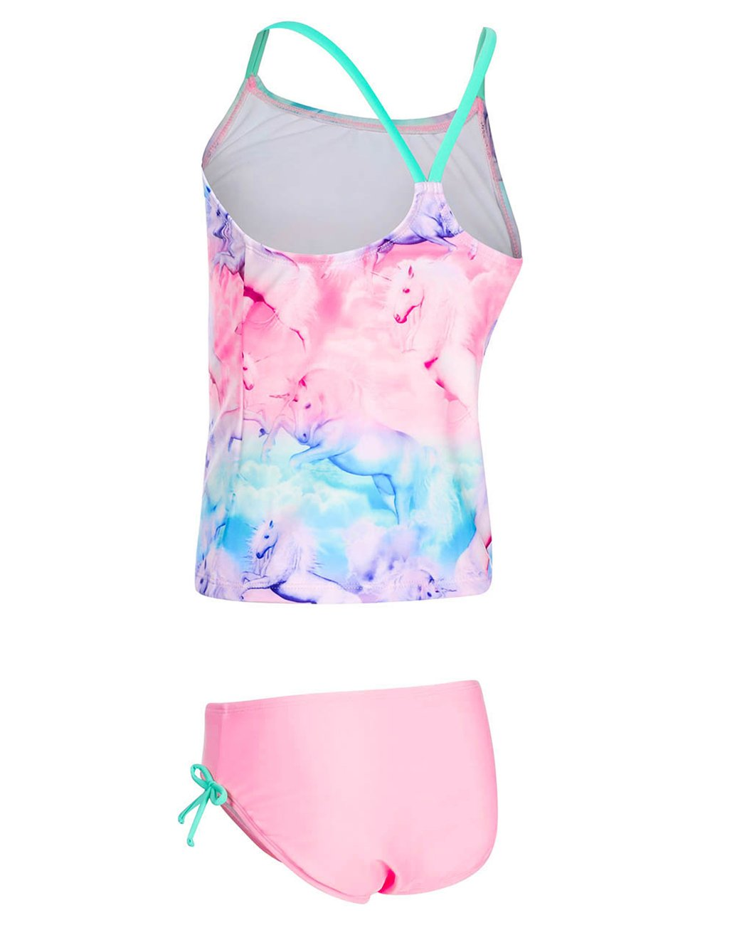 iDrawl Girls Two Piece Swimwear, Racerback Beach Swimming Bathing Suits by iDrawl (Image #4)