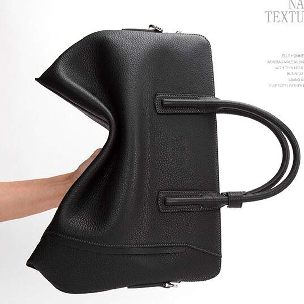 Black Size: 37.5627.5cm Top Leather Business Multi-function Computer Bag Mens Large-capacity Handbag Briefcase