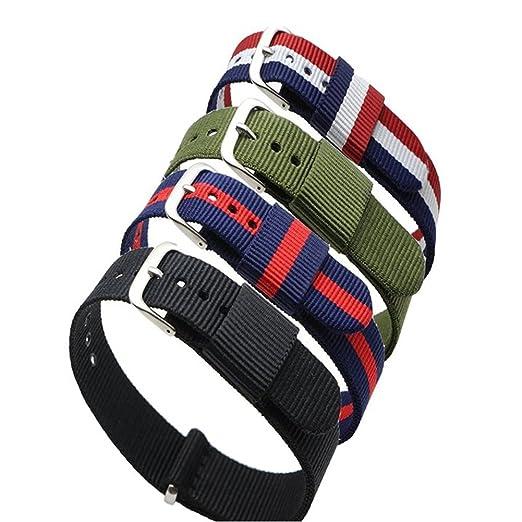 6 opinioni per Ritche, 4 cinturini di ricambio per orologio da polso, in nylon, colori: a righe