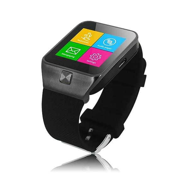 ZGPAX Bluetooth Smart Watch reloj inteligente 1.54 Pantalla táctil Cámara 1,3 m para teléfono