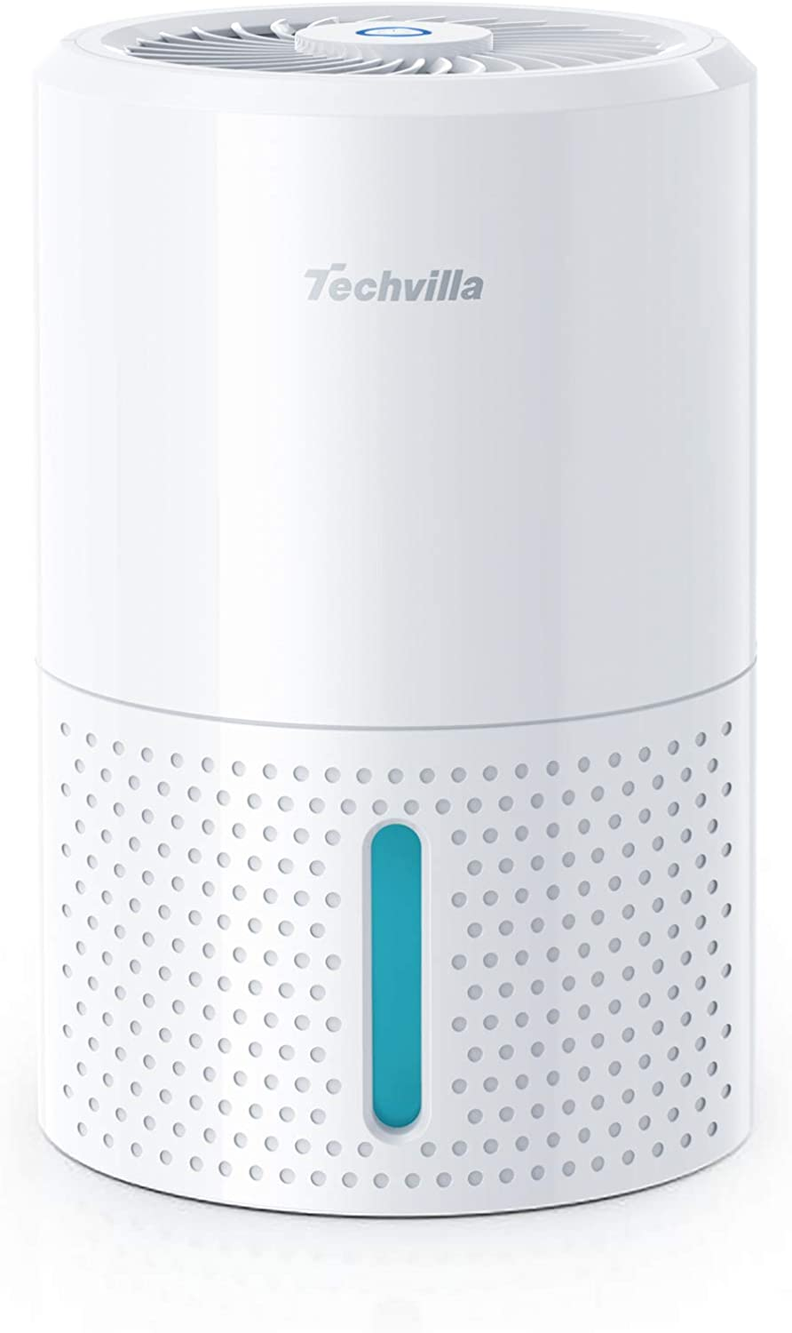TECHVILLA Mini Dehumidifier with Auto-Off Function and LED Indicator 1000ml Small Dehumidifer for Home Bedroom Bathroom Basement Quiet Operation and Portable