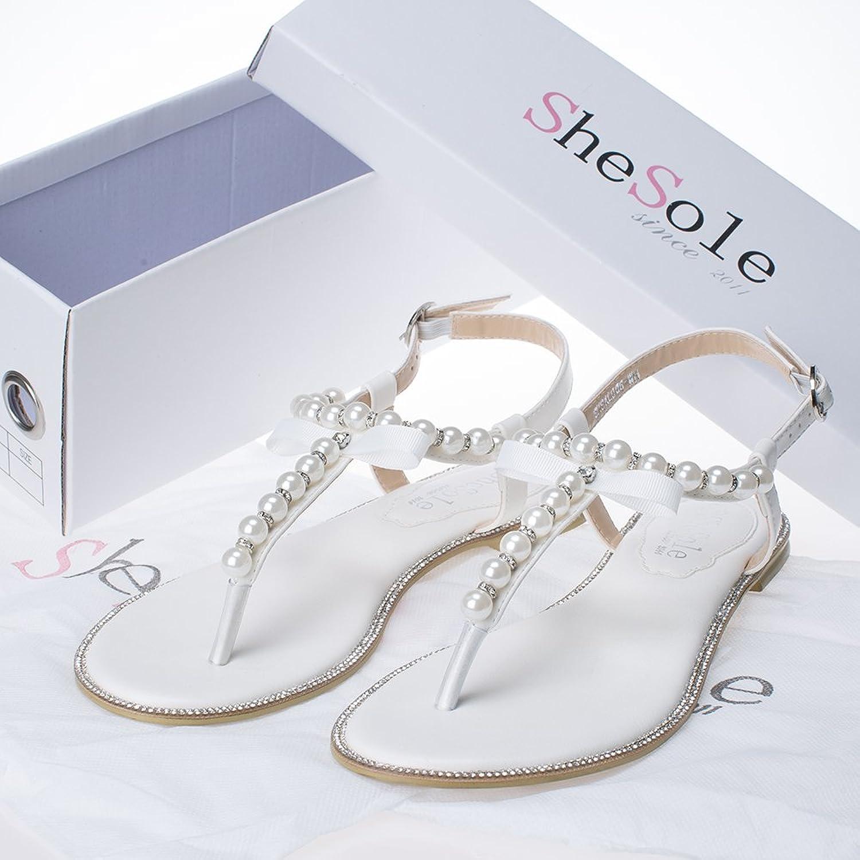 Sandals honeymoon shoes with rhinestone - Amazon Com Shesole Womens Flats Wedding Shoes Dress Sandals Sandals