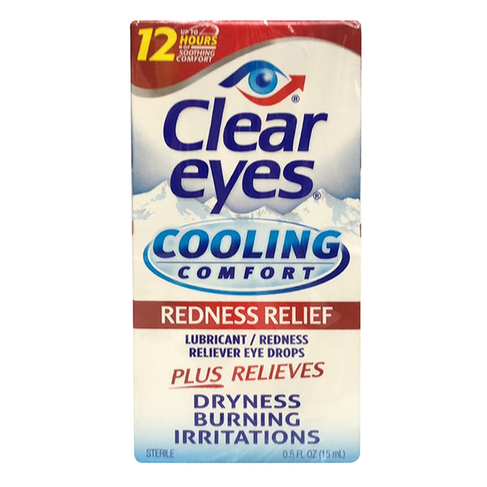 Clear Eyes Cooling Comfort- Redness Relief, 0.5 Ounce Pack of 2