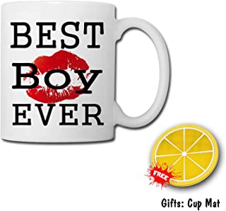 TK.DILIGARM Best Boy Ever Coffee Mugs in Gift Box pour The Cup That Will When it is Boiling Water. This is a Magic Cup.Birthday Present