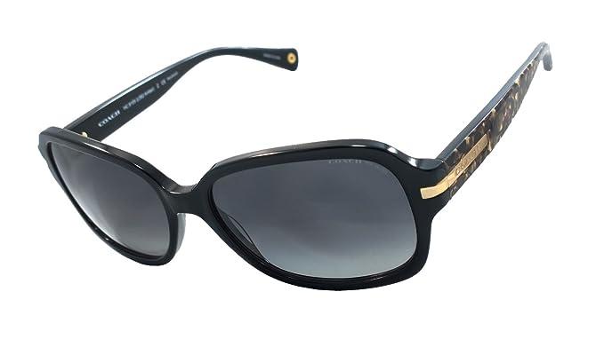 7eaae752de8 ... closeout coach hc8105 l082 amber 100 authentic womens polarized sunglasses  black beige 8e24b 0b807