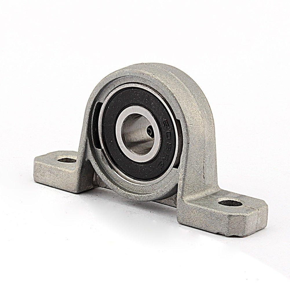 2pcs Rodamientos de Block Bloque de almohadilla rodamientos Brida Di/ámetro Auto Auto Ajuste Centro Montada textuales tama/ño : 10mm