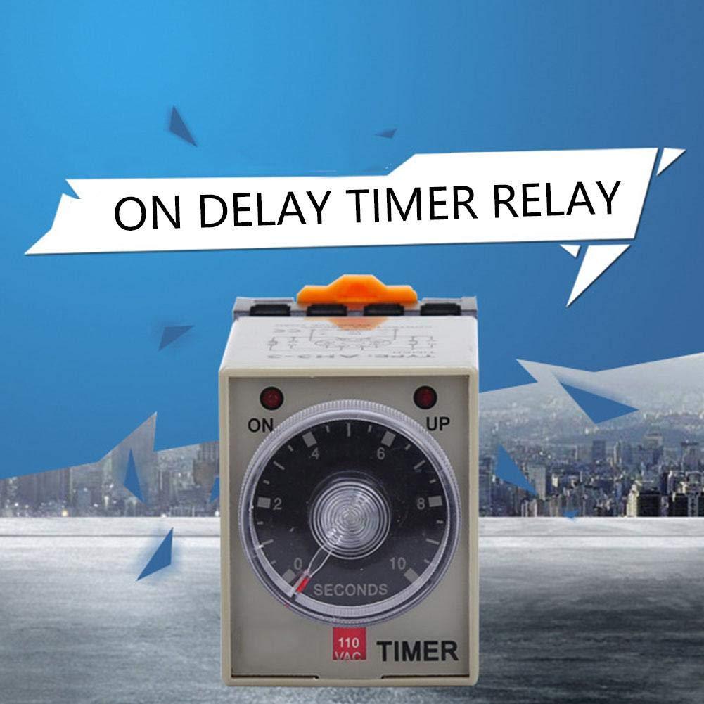 Rel/è temporizzato rel/è temporizzatore AH3-3 CA 110 V Rel/è temporizzato Rel/è temporizzato 0-10 secondi Rel/è temporizzato con base CA 110 V Delay ON Time Relay