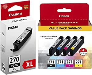 Canon 1804229 PGI 270 XL/CLI 271 Black/Color Ink Cartridge High Yield