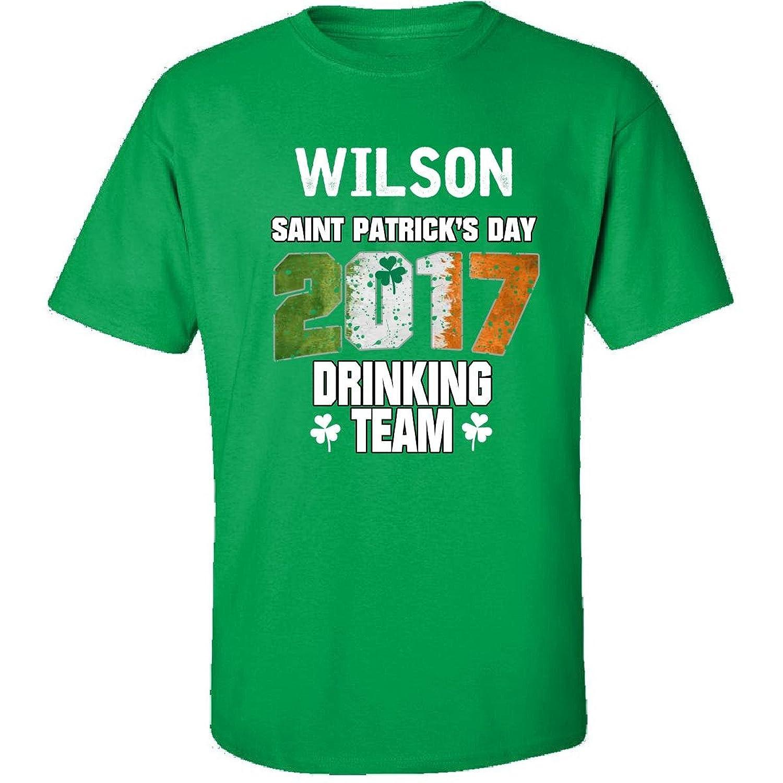 Wilson Irish St Patricks Day 2017 Drinking Team - Adult Shirt