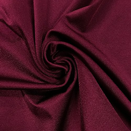 Pine Crest Fabrics Shiny Tricot Maroon Fabric by The Yard