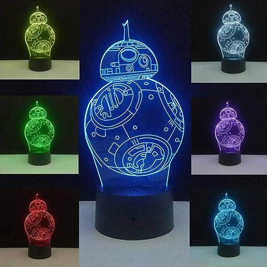 XIAOTAIDENG Veilleuse Star Wars Lamp Death Star 3d Night