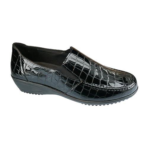 ara - Mocasines de Charol para Hombre, Color Negro, Talla 8: Amazon.es: Zapatos y complementos