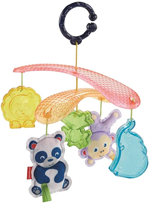 Fisher-Price Móvil mascotas de paseo, móvil para bebé (Mattel DYW54)
