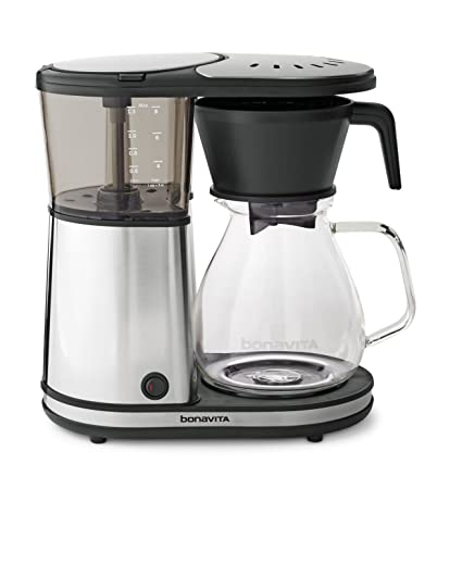 e65614b0baa5 Amazon.com  Bonavita BV1901GW 8-Cup One-Touch Coffee Maker Featuring Glass  Carafe and Warming Plate 12.6 x 6.8 x 12.2 inches  Kitchen   Dining
