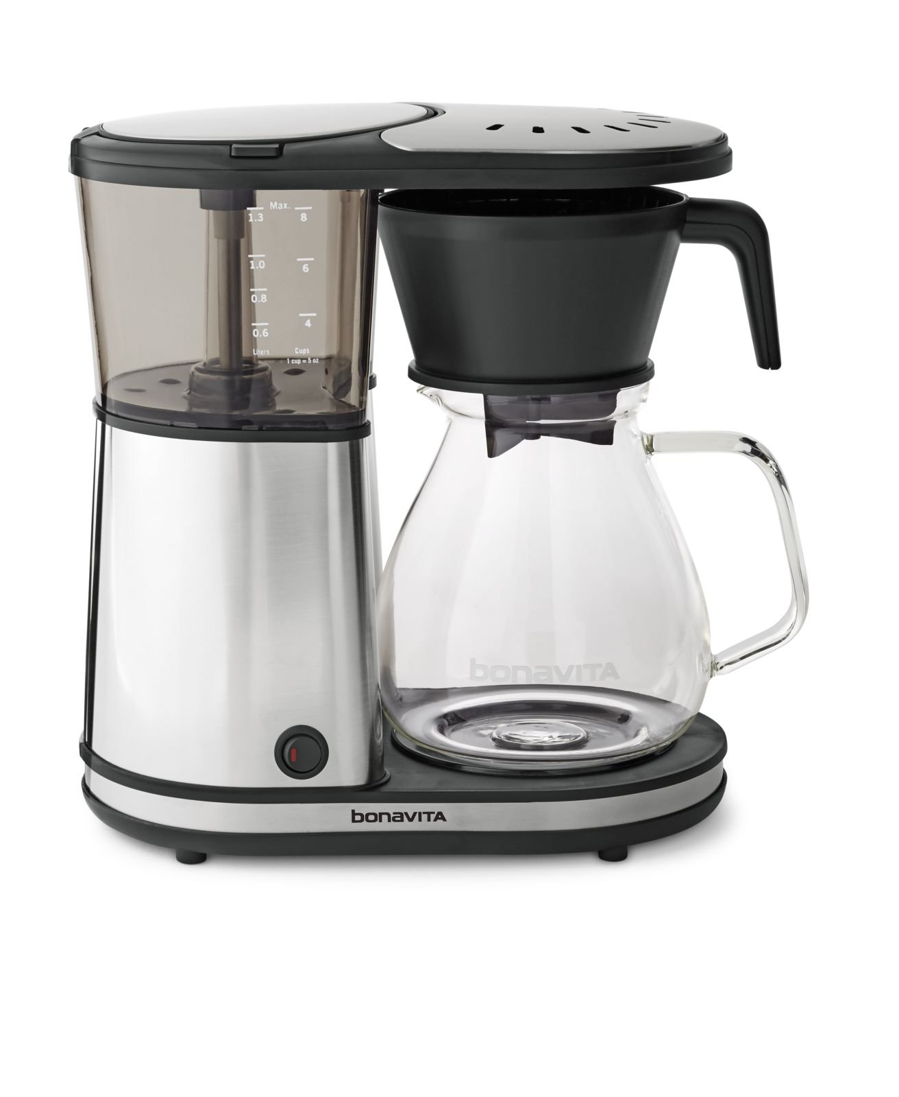 Bonavita BV1901GW Glass Carafe Brewer with Hot Plate