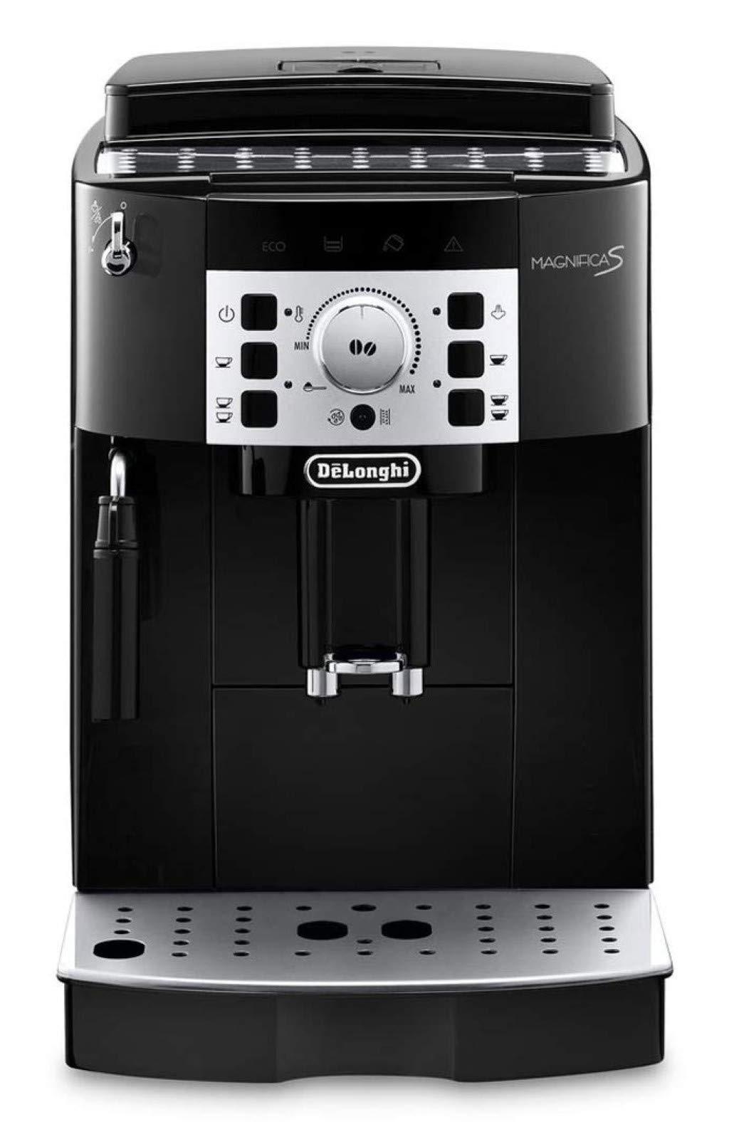 DeLonghi Magnifica S ECAM 22110B Kaffeevollautomat Mit Milchaufschaumduse Direktwahltasten Drehregler 2 Tassen Funktion Grosser 18 L Wassertank